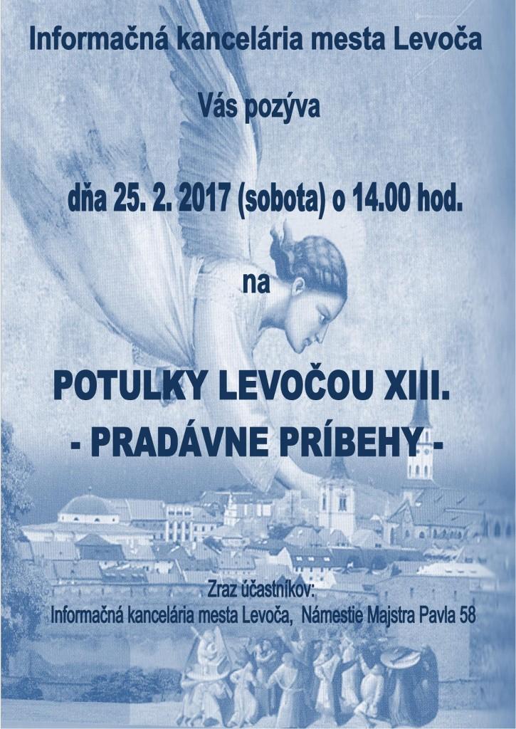 Potulky Levočou - pozvánka