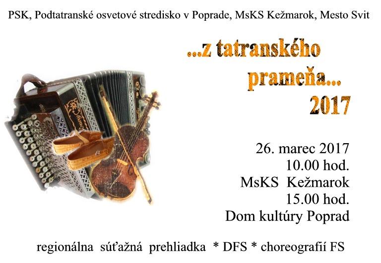 z tatranského prameňa pozvánka 2017